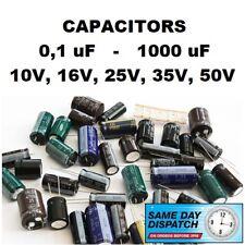 RADIAL ELECTROLYTIC CAPACITORS 0,1uF-1000uF 10V 16V 25V 35V 50V 105C