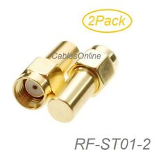 2Pack RP-SMA Male 50-Ohm Coaxial Termination Load, Brass Gold Plated , RF-ST01-2