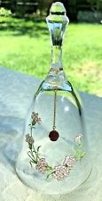 Vintage January Garnet Birthday Bell Lead Crystal Carnation Flower