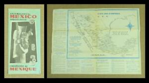 1961, MEXICO ARCHAEOLOGICAL SITES MAP/ LEAFLET - in Spanish, French & English