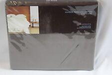 New Hudson Park 600TC 100% Egyptian Cotton QUEEN Flat Sheet Mink Brown $150