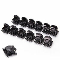 Women Girls 12pcs Black Plastic Mini Hairpin 6 Claws Hair Clip Clamp