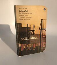 Call it Sleep Henry Roth Vintage Pulp Fiction Paperback 1964 Avon New York City