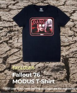 """FALLOUT 76 """"MODUS"""" Danger T-SHIRT Size 3XL """"Attack"""" LootCrate Gaming Exclusive"""