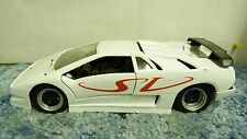 MAISTO RED/WHT LAMBORGHINI DIABLO SV 1:18 SCALE DIECAST MODEL CAR SH5E