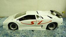 MAISTO RED/WHT LAMBORGHINI DIABLO SV 1:18 SCALE DIECAST MODEL CAR SH5E