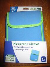 NIB LeapFrog LeapPad Explorer Neoprene Sleeve - LT BLUE WITH GREEN TRIM