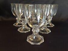 6 verres en cristal Modèle YALE uni. H: 142 mm VAL SAINT LAMBERT