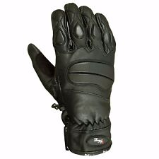 Summer Lite Leather Motorbike Motorcycle Gloves Tactical Mittens Knuckle Pads