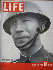 "LIFE Oct 3 1938  Maginot, Siegfried Line, Mussolini, 1938 ""Negroes"" 1938 Yankees"