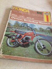 Haynes 312 Honda CR 125 175 Elsinore owners workshop manual atelier