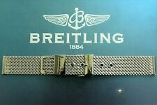 20MM HEAVY S/S FLAT LINK MESH WATCH BAND WATCHBAND BRACELET STRAP FOR BREITLING
