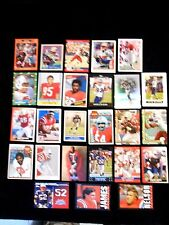 Lot of 25 New England Patriots Football Trading Cards - assorted players & years