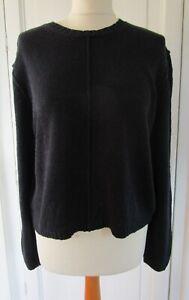 Ladies GANT Navy Blue 100% Linen Knit Jumper M Medium UK 12