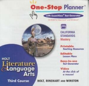 Holt Literature & Language Arts: One-Stop Planner Third Course PC MAC CD tests +