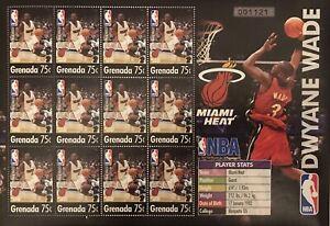 GRENADA DWYANE WADE STAMP SHEET 2004 mnh MIAMI HEAT NBA BASKETBALL SPORTS