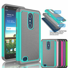 For ZTE Blade X Max / Z983 Shockproof Armor Hybrid Rubber Impact Hard Case Cover