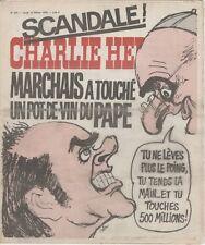 """""""CHARLIE HEBDO N°274 du 12/2/1976"""" CABU: MARCHAIS A TOUCHE UN POT-DE-VIN DU PAPE"""