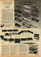 1965 ADVERT Strombecker Car Kits Race Track Cobra Jaguar Ford GT Lotus Farrari