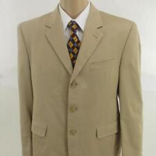 40 S Lauren Ralph Lauren Beige Pure Cotton 3 Btn Mens Jacket Sport Coat Blazer