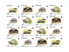MONACO 1991 Klb MS 2046-49 B 1778-81 imperf Turtles WWF Fauna Schildkröten MNH