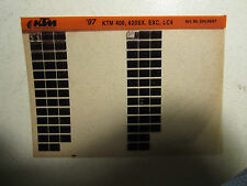 1997 KTM Motorcycle 400 620 SX EXC LC4 Microfiche Parts Catalog 400SX 620SX
