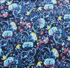 New Lilly Pulitzer Corduroy Fabric Blue French Country Thistle 1 Yard