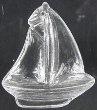 1930's Miniature Glass Figurine~Hanging Sail Boat Ornament