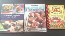 """3 x Books """"Good Food For Less"""", """"New Casseroles"""" & """"Easy Slow Cooker Cookbook"""""""