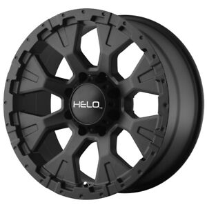 "Helo HE878 17x9 5x5.5"" -12mm Satin Black Wheel Rim 17"" Inch"