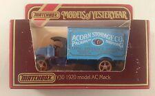 MATCHBOX Models OF YESTERYEAR in scatola y30 1920 MODELLO MAC Acorn Storage