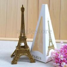 6.0'' Bronze Tone Paris Eiffel Tower Figurine Statue Vintage Alloy Model Decor