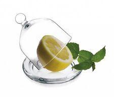 Glashaube Glasglocke mit Teller Zitronenglocke Glasdom Glocke Haube