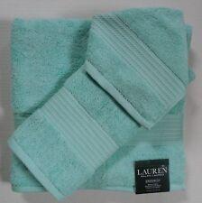 Ralph Lauren Greenwich Adirondack Lake Bright Aqua Bath Towels~3 Piece Set New