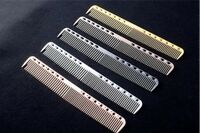 Aluminum Metal Cutting Comb Hair Hairdressing Barbers Salon Combs Tool New Trend