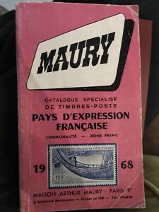 catalogue specialise timbres maury 1968