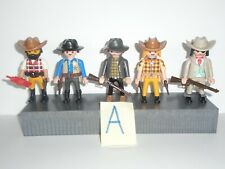 PLAYMOBIL - 5 MIXED COWBOYS (A) WITH ACCESSORIES
