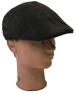 IVY Newsboy Duckbill Cabbie Golf Driving Faux Suede Leather Cap and Hat