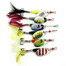 6pcs Spoon Metal Fishing Lures Set Spinner Baits CrankBait Bass Tackle Hooks