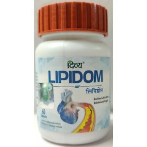 Patanjali Divya LIPIDOM 60 Tablets Herbal Supplement | Free Shipping