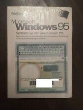 Microsoft Windows 95 - Deutsch - Key - Handbuch - USB Unterstützung NEU&OVP
