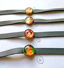 Fashion Leather Choker Necklace with Exclusive Frida Kahlo Designer Pendant