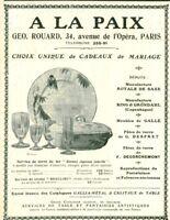 Publicité ancienne à la Paix Royale de Saxe Géo Rouard 1908 issue magazine