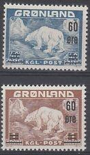 Greenland Scott 39-40 Mint hinged (Catalog Value $76.50)