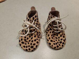worn once La Sienna Sz 2 Leather Leopard Shoes