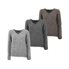 Maglione Pullover Donna TASMANIA 123513A Misto Lana Made in Italy (3 varianti)