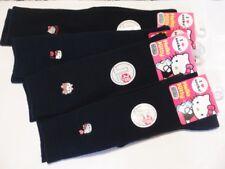 ^_^Japanese SchoolGirl Hello Kitty High Socks 28cm/32cm. Navy. Size:23-25cm.New