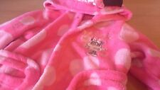 Disney Baby Minnie Mouse Pink Fleece Dressing Gown Age 18-23 Months