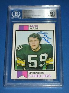 JACK HAM Signed 1973 TOPPS ROOKIE Card #115 Beckett Authenticated