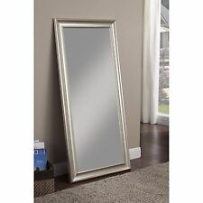 Full Length Floor Leaner Mirror Framed Wall Mount Bedroom Hall Foyer Beveled New